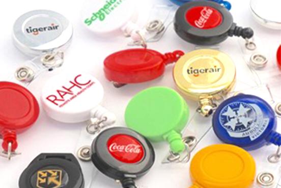Custom Colour Badge Reels - Cardserv - Plastic Card Printing
